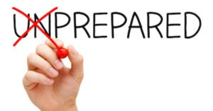 go from unprepared to prepared