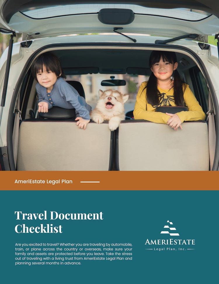 Free Travel Document Checklist   AmeriEstate Legal Plan